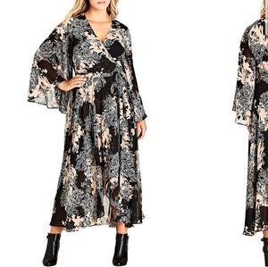 City Chic Maxi Wrap Dress